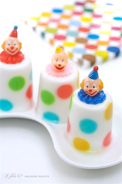 masam manis puding polkodot food4kids polka dots clowns and puddings
