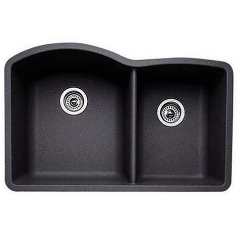 blanco 440179 anthracite 1 and 3 4 bowl silgranit