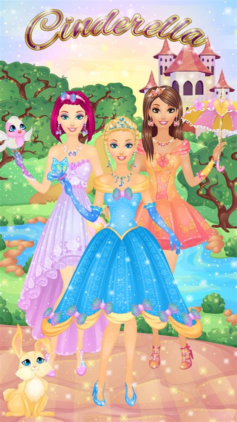 Gamis Cinderella 8 cinderella salon spa make up and dress up tale