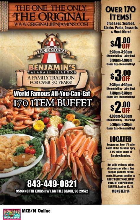 Original Benjamins Buffet Price The Original Benjamin S Calabash Seafood Myrtle Beach