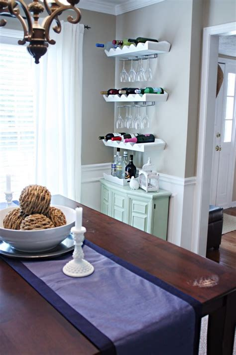 Pottery Barn Wine Rack Shelf by Diy Bar Area Glass Holders Attached To Pottery Barn