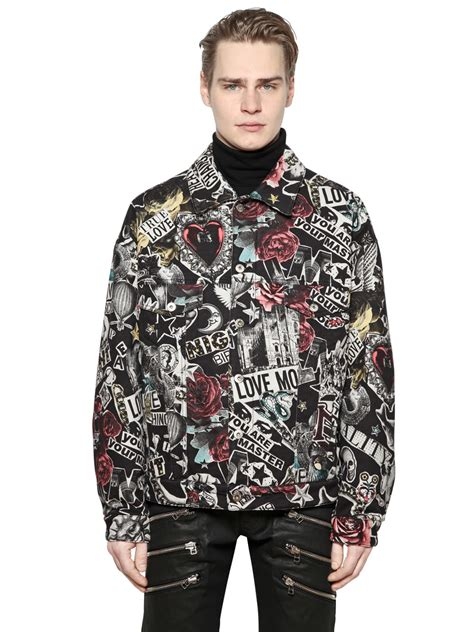 American Apparels Cotton Canvas La Z Side Pocket Bag by Lyst Moschino Collage Printed Cotton Canvas Jacket