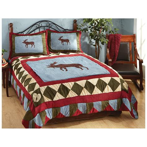 castlecreek moose tracks chenille comforter set 226570