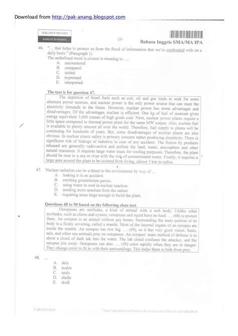 naskah soal un bahasa inggris smp 2013 paket 1 paket soal un bahasa inggris smp tahun 2014 soal un bahasa