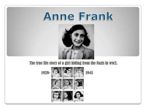 anne frank biography powerpoint anne frank the biography
