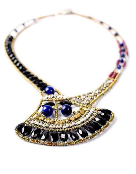 Handmade Italian Jewelry - designer necklace handmade artisan necklace black