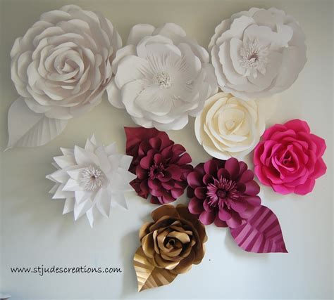 Large Paper Flowers - oversized paper flowers handmade paper flowers by