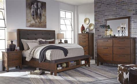 Ralene Bedroom Set ralene brown upholstered storage bedroom set b594 57