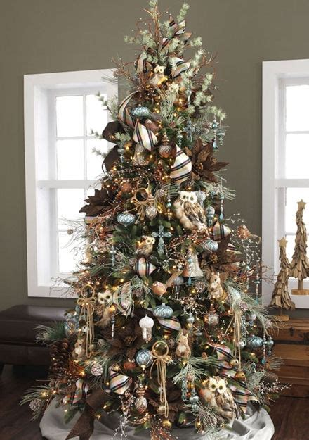 rustic theme christmas tree christmas tree themes