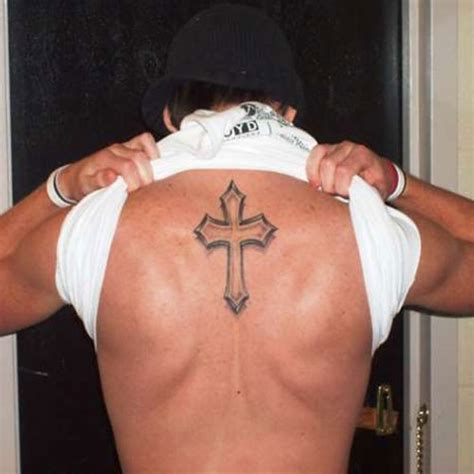 cross back tattoos 20 awesome cross on back creativefan