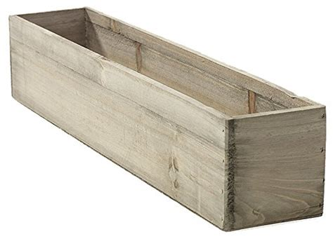 Planter Liner Plastic by 20 Quot Rectangular Rustic Wood Planter With Plastic Liner