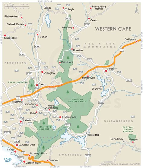 Accommodation in STELLENBOSCH Search by Map, Western Cape