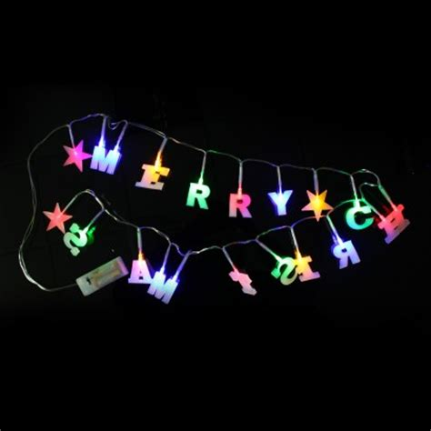 multicoloured led merry christmas string lights