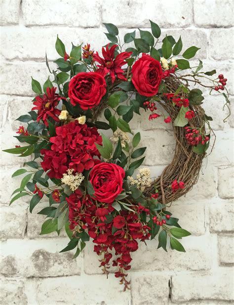 grapevine floral design home decor the red summer wreath for door front door wreath summer door
