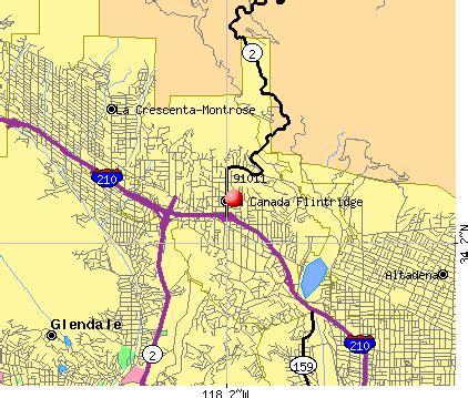 la canada california map 91011 zip code la canada flintridge california profile
