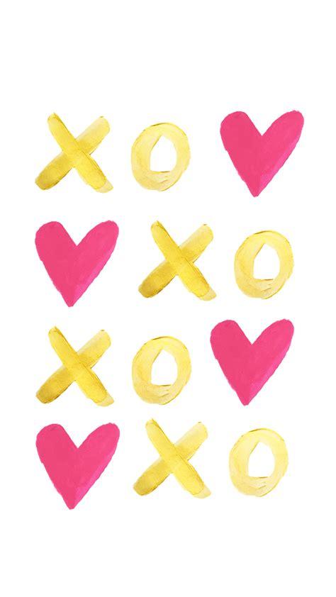 Cute Xoxo Wallpaper   la petite fashionista handpainted hearts free