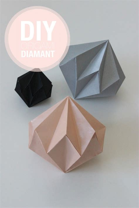 En Origami - diy diamants en origami