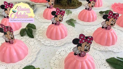 moldes para gelatina de minnie como hacer gelatinas de minnie mouse individuales youtube
