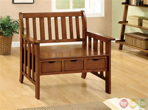bench seat with drawers pine crest mission oak bench with 3 under seat drawers