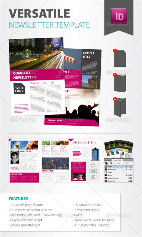 10 Best Indesign Newsletter Templates Design Freebies 2 Page Newsletter Template Free