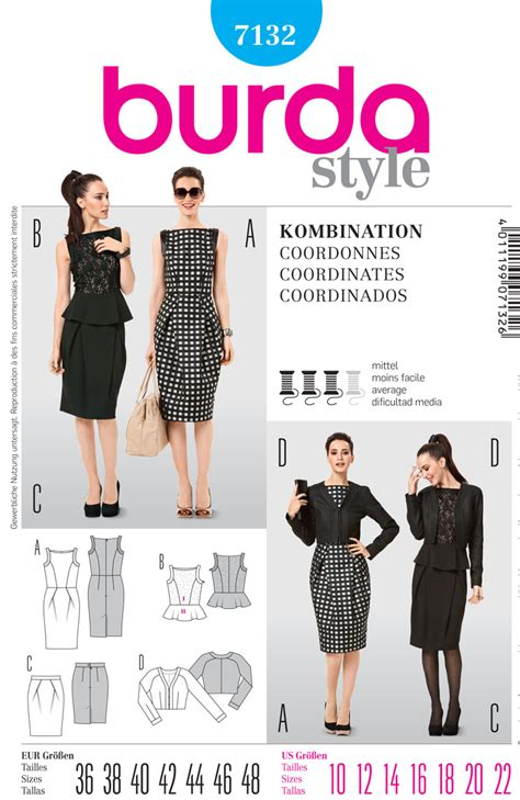 pattern review best of 2012 burda 7132 misses top and jacket skirt and dress