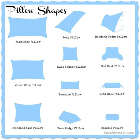 standard pillow dimensions different pillow sizes explained different strokes for