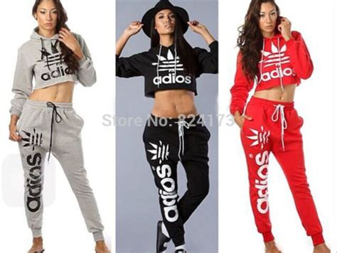 Setelan Set 2pc aliexpress buy sport suits femme velours survetement crop hoodies marijuana