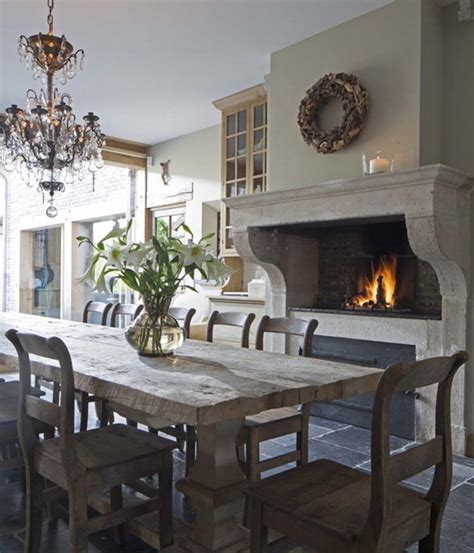 french country kitchen with fireplace kitchens in white pinterest 25 fabulous kitchens showcasing warm and cozy fireplaces