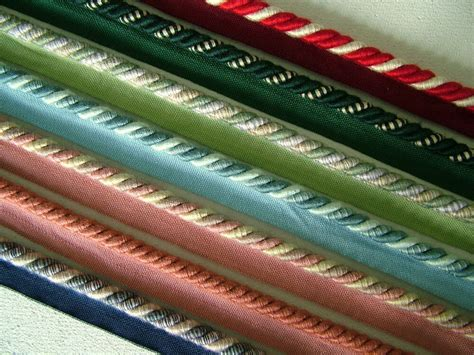 Upholstery Trim Cord - 5 metres of 8mm flanged piping cord rope trim upholstery