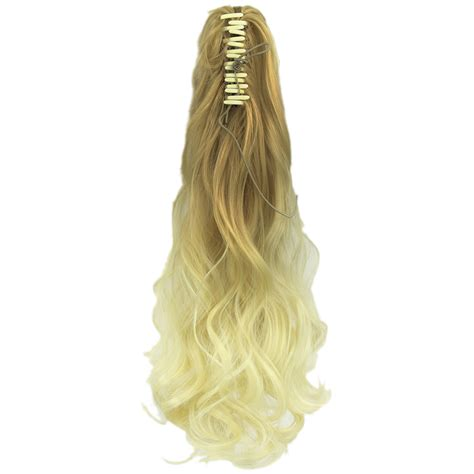 Hairclip Ombreponytailwig soowee wavy ombre claw ponytail synthetic hair clip in hair extension hairpiece pony
