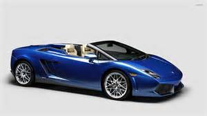 Lamborghini Gallardo Blue Front Side View Of A Blue Lamborghini Gallardo Wallpaper