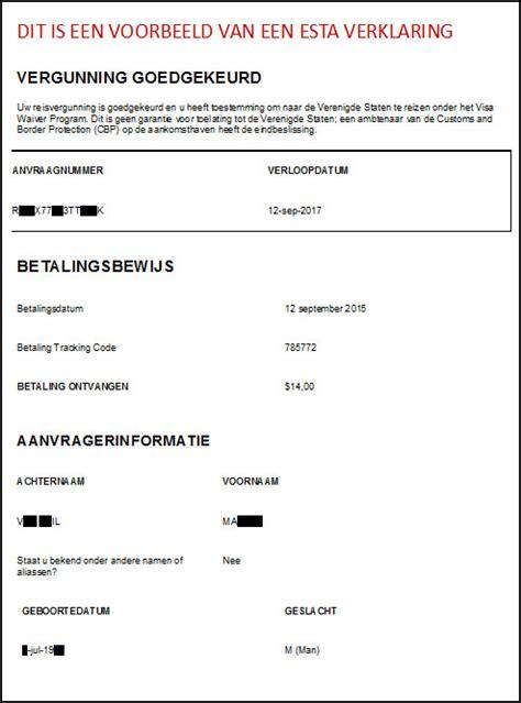 voorbeeld toestemming paspoort esta verklaring aanvragen zakelijke mogelijkheden