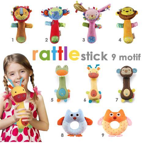 Stik Rattle Bayi rattle stick fin hati bunda babyshop grosir