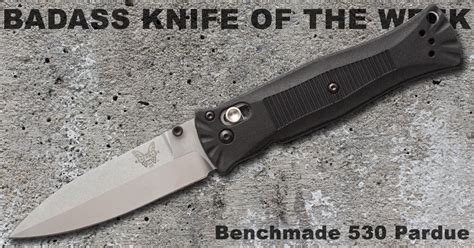 pardue knives benchmade 530 pardue badass knife of the week knife depot