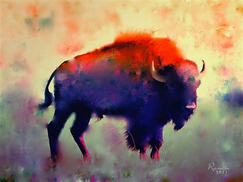 watercolor tattoo hamburg bison painting bison print artsy inspiration