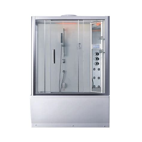 bathtub shower kit ariel platinum 59 in x 87 4 in x 32 in steam shower