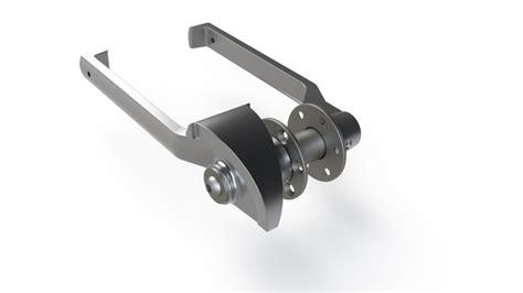 watertight door handle  cad model library grabcad