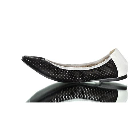 Black And White Flat Shoes black and white flat shoes openwork decorated with a bow