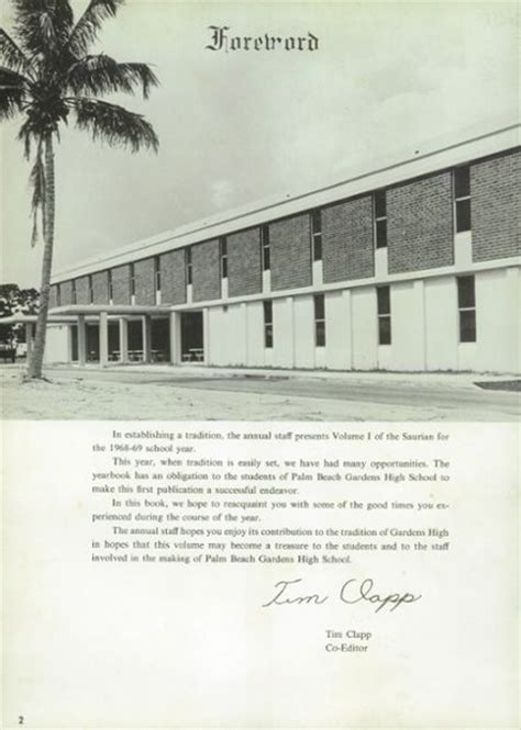 Palm Garden High School by Explore 1969 Palm Gardens High School Yearbook Palm