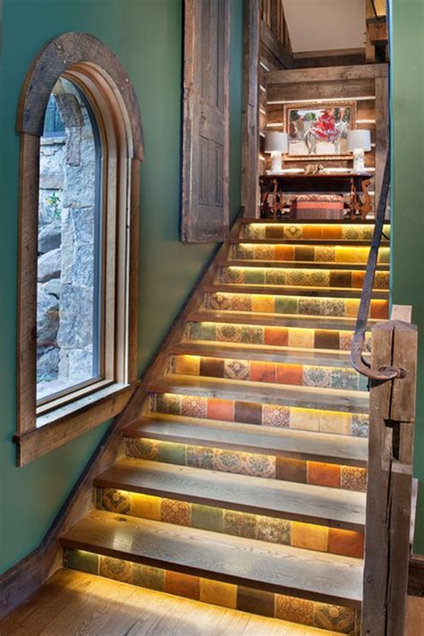 Staircase Wall Decor Ideas by Decorative Stair Risers With Designs For All Tastes