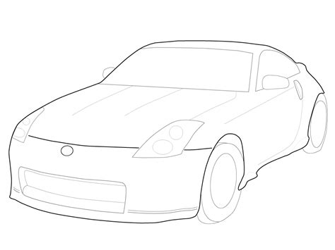 370z Coloring Page by Nissan 350 Free Coloring Pages
