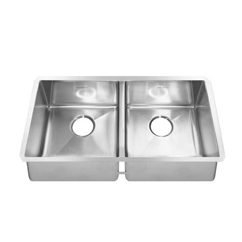 American Standard Kitchen Sinks American Standard Pekoe Undermount Stainless Steel 35 In Basin Kitchen Sink Kit