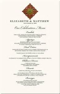 Christmas Menu Ideas Winter Theme Wedding Menu Cards Snowflake Wedding Menu