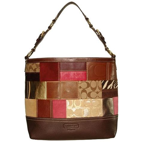 Coach Patchwork Handbag - coach patchwork shoulder tote