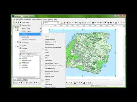 membuat layout peta dengan mapinfo membuat layout peta di arcgis youtube