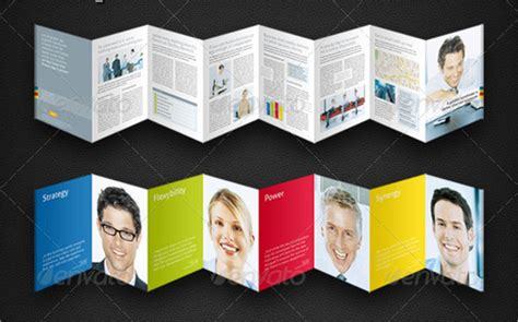 8 accordion fold brochure printable psd ai indesign