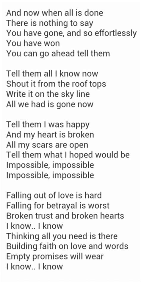 impossible arthur lyrics