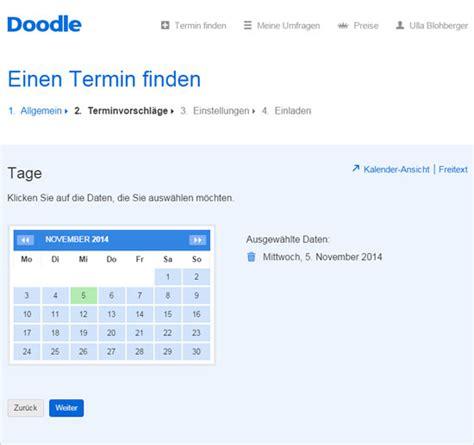 doodle terminplanung terminplanung mit doodle pcs cus