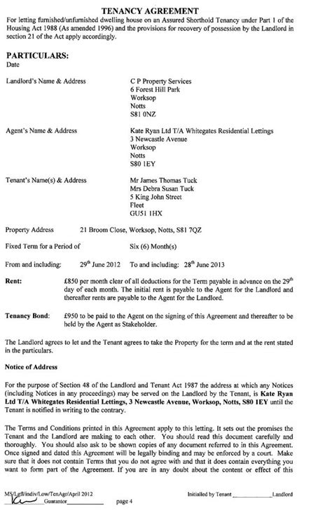 assured shorthold tenancy agreement template hi we signed an assured shorthold tenancy agreement in