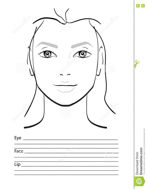 makeup design template blank makeup for drawing pictures to pin on